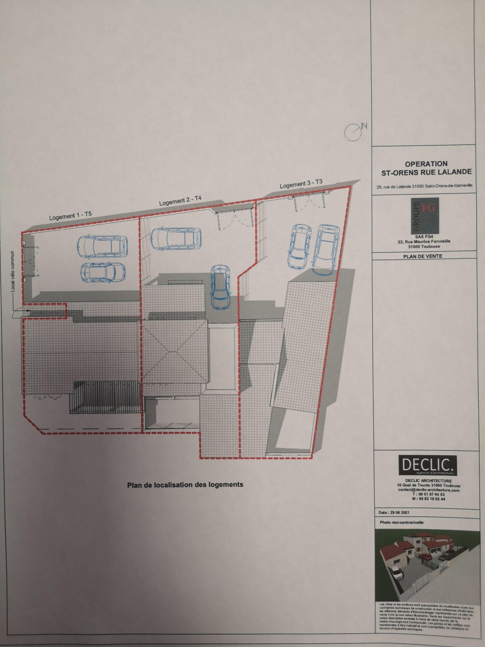 Plan de composition des maisons
